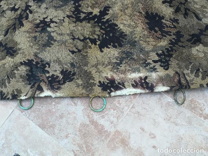 Antigüedades: Preciosa cortina con escena de caza (deteriorada) - Foto 17 - 207867820