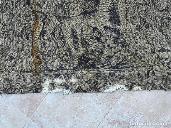 Antigüedades: Preciosa cortina con escena de caza (deteriorada) - Foto 19 - 207867820