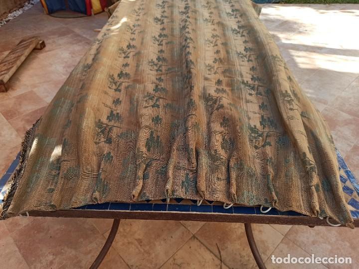 Antigüedades: Cuatro antiguas cortinas verdes - Foto 2 - 207868787