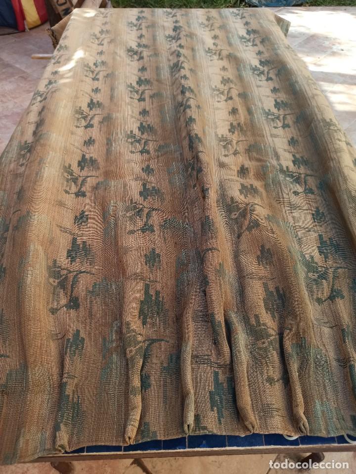Antigüedades: Cuatro antiguas cortinas verdes - Foto 3 - 207868787