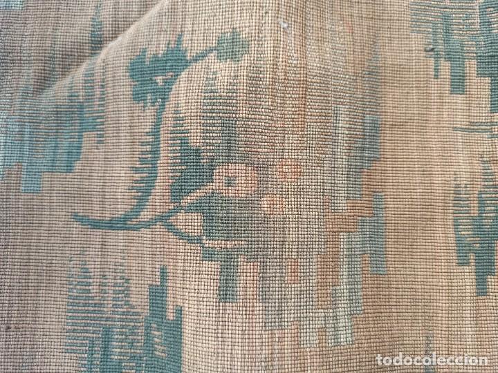 Antigüedades: Cuatro antiguas cortinas verdes - Foto 4 - 207868787