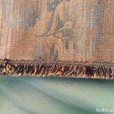 Antigüedades: CUATRO ANTIGUAS CORTINAS VERDES. Lote 207868787