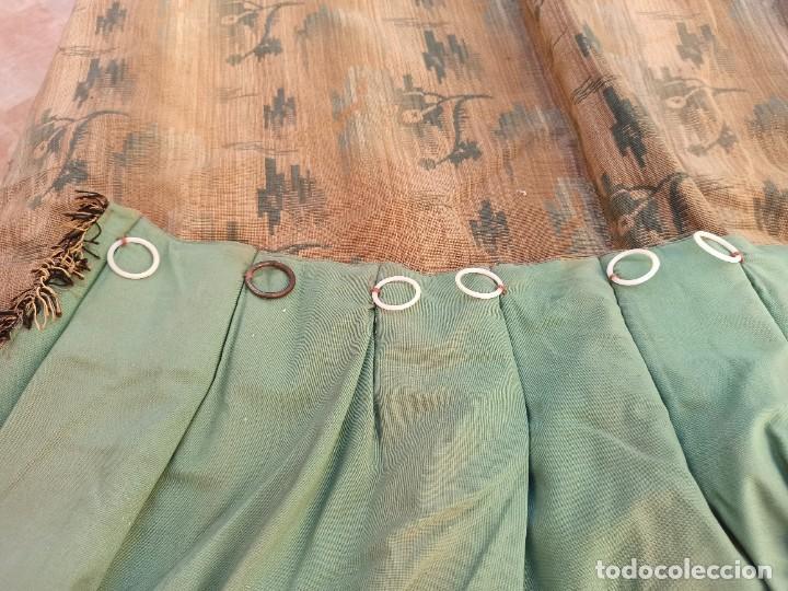 Antigüedades: Cuatro antiguas cortinas verdes - Foto 9 - 207868787
