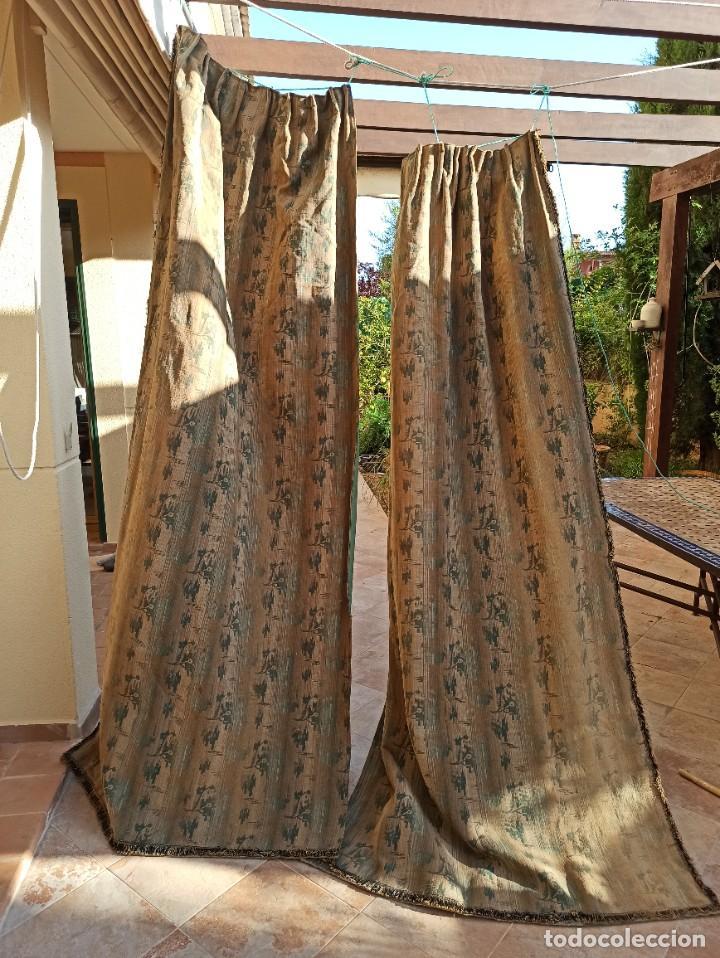 Antigüedades: Cuatro antiguas cortinas verdes - Foto 12 - 207868787