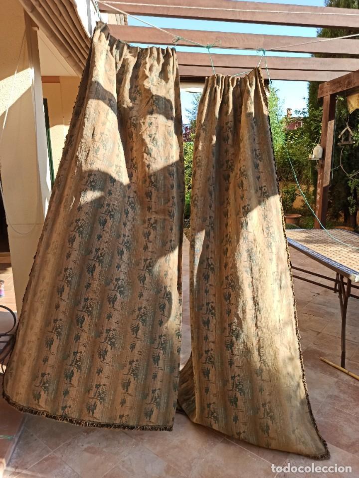 Antigüedades: Cuatro antiguas cortinas verdes - Foto 17 - 207868787