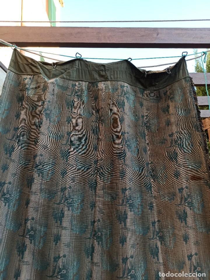 Antigüedades: Cuatro antiguas cortinas verdes - Foto 19 - 207868787