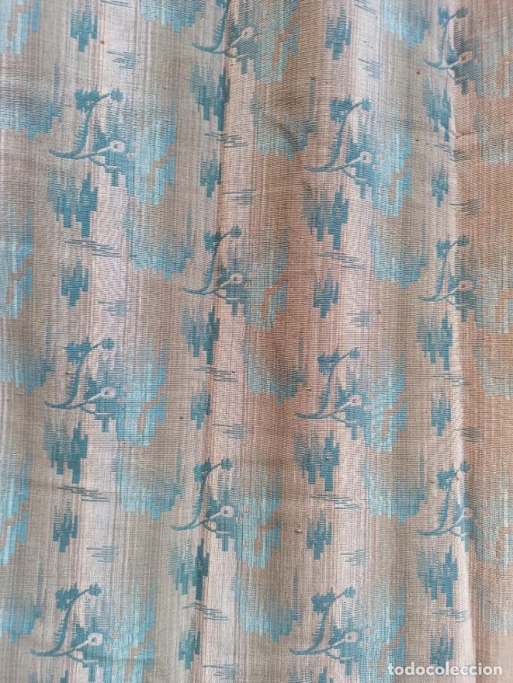 Antigüedades: Cuatro antiguas cortinas verdes - Foto 20 - 207868787