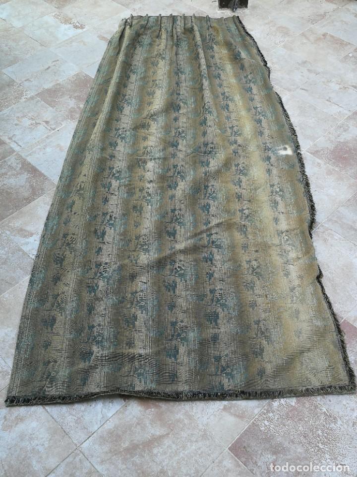 Antigüedades: Cuatro antiguas cortinas verdes - Foto 25 - 207868787