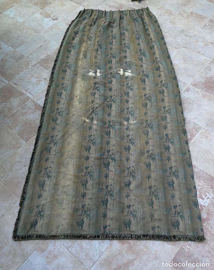 Antigüedades: Cuatro antiguas cortinas verdes - Foto 28 - 207868787