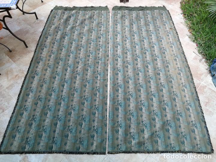 Antigüedades: Cuatro antiguas cortinas verdes - Foto 29 - 207868787