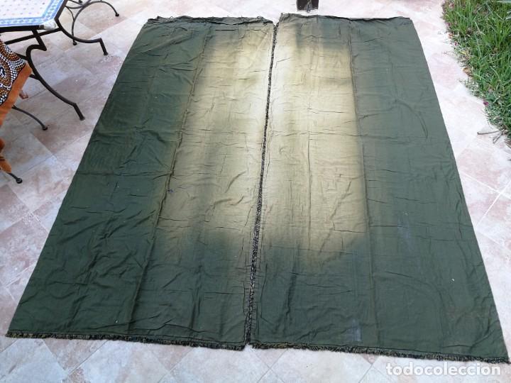 Antigüedades: Cuatro antiguas cortinas verdes - Foto 30 - 207868787