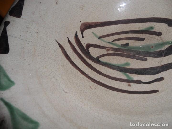 Antigüedades: antiguo lebrillo cuenco plato ceramica de teruel en buen estado - Foto 6 - 207894175
