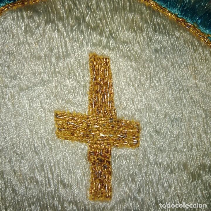 Antigüedades: Antiguo estandarte, La Adoración Nocturna, bordado a mano en hilo de oro y seda. 1906 - Foto 4 - 207899421