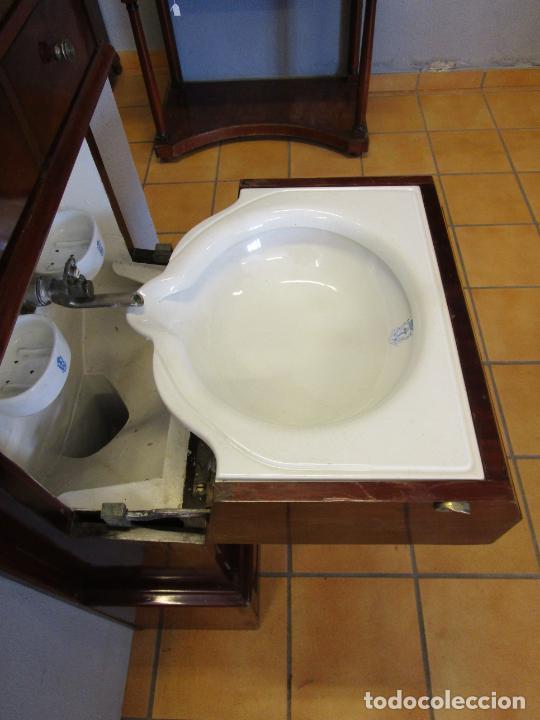 Antigüedades: Antiguo Mueble de Barco - Compañía Trasatlántica Vapores Correos, Barcelona - Madera Caoba - S. XIX - Foto 13 - 207929101