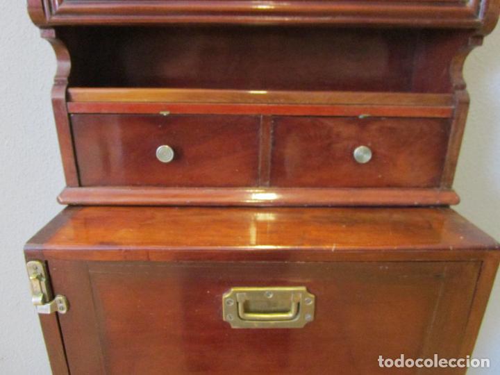 Antigüedades: Antiguo Mueble de Barco - Compañía Trasatlántica Vapores Correos, Barcelona - Madera Caoba - S. XIX - Foto 19 - 207929101