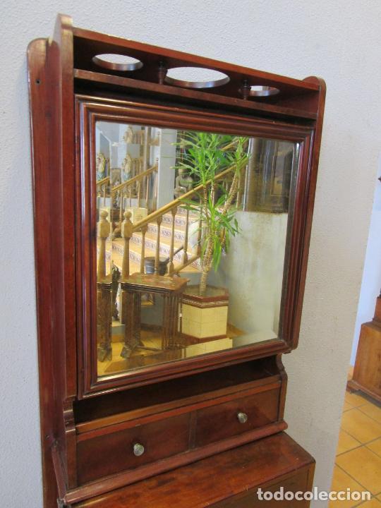 Antigüedades: Antiguo Mueble de Barco - Compañía Trasatlántica Vapores Correos, Barcelona - Madera Caoba - S. XIX - Foto 25 - 207929101