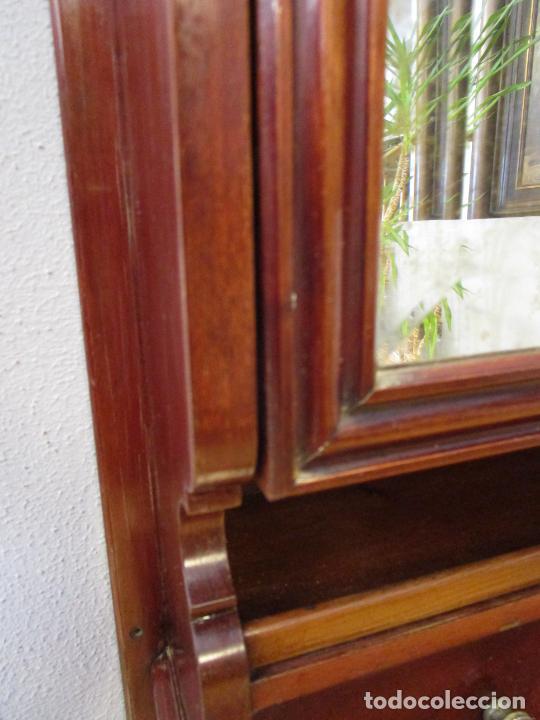 Antigüedades: Antiguo Mueble de Barco - Compañía Trasatlántica Vapores Correos, Barcelona - Madera Caoba - S. XIX - Foto 26 - 207929101