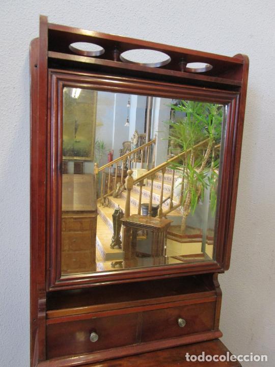 Antigüedades: Antiguo Mueble de Barco - Compañía Trasatlántica Vapores Correos, Barcelona - Madera Caoba - S. XIX - Foto 27 - 207929101