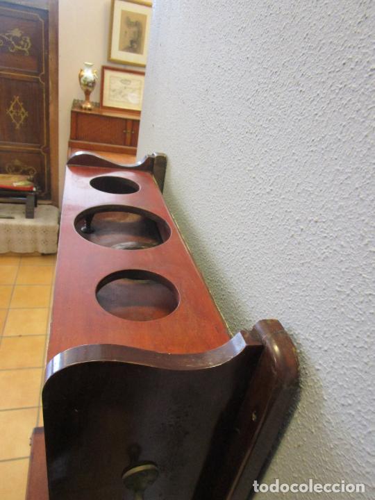 Antigüedades: Antiguo Mueble de Barco - Compañía Trasatlántica Vapores Correos, Barcelona - Madera Caoba - S. XIX - Foto 29 - 207929101