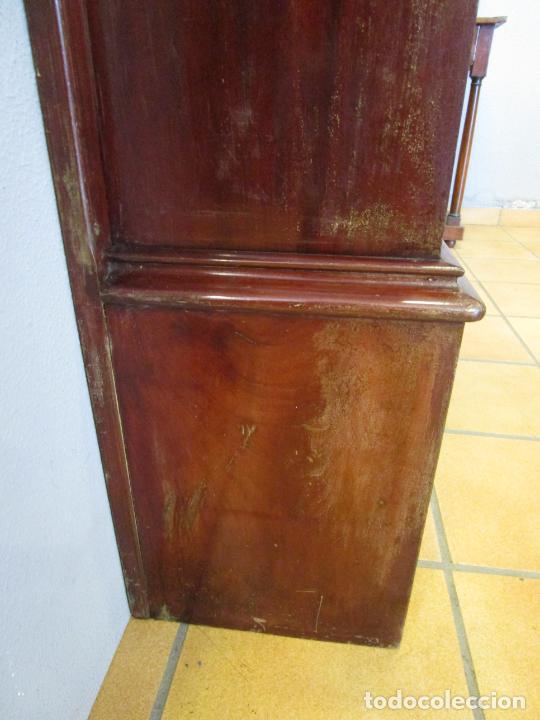 Antigüedades: Antiguo Mueble de Barco - Compañía Trasatlántica Vapores Correos, Barcelona - Madera Caoba - S. XIX - Foto 32 - 207929101
