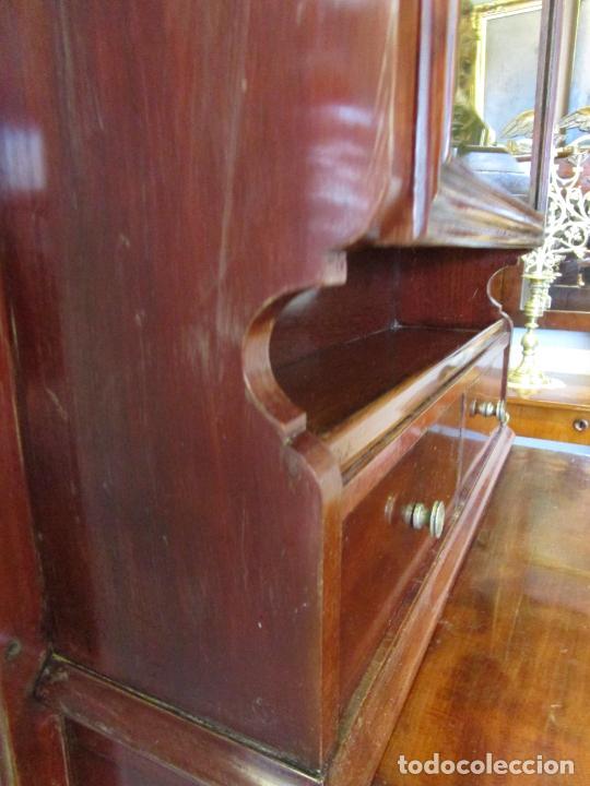 Antigüedades: Antiguo Mueble de Barco - Compañía Trasatlántica Vapores Correos, Barcelona - Madera Caoba - S. XIX - Foto 33 - 207929101