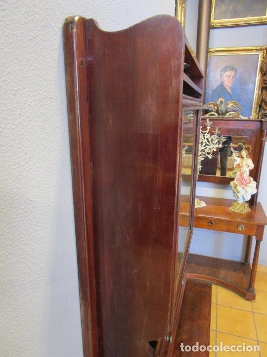 Antigüedades: Antiguo Mueble de Barco - Compañía Trasatlántica Vapores Correos, Barcelona - Madera Caoba - S. XIX - Foto 34 - 207929101