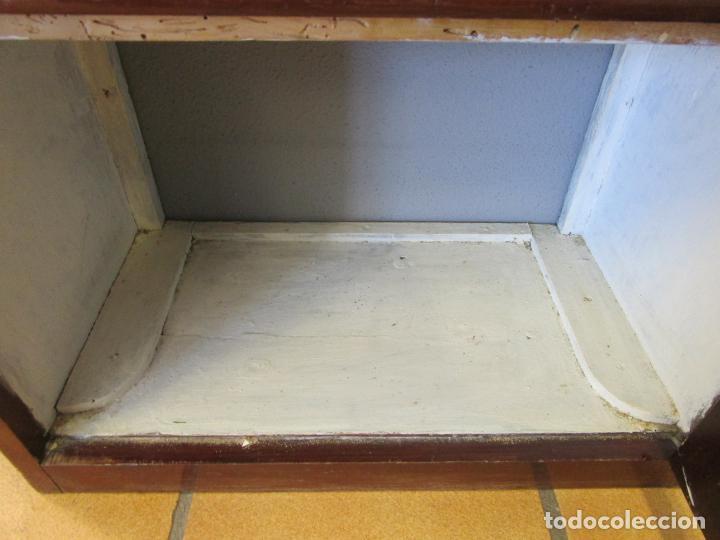 Antigüedades: Antiguo Mueble de Barco - Compañía Trasatlántica Vapores Correos, Barcelona - Madera Caoba - S. XIX - Foto 36 - 207929101
