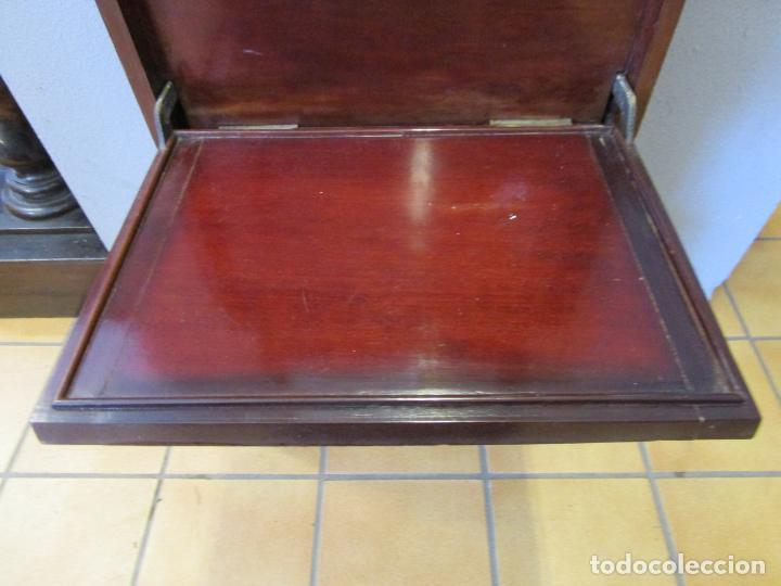 Antigüedades: Antiguo Mueble de Barco - Compañía Trasatlántica Vapores Correos, Barcelona - Madera Caoba - S. XIX - Foto 39 - 207929101