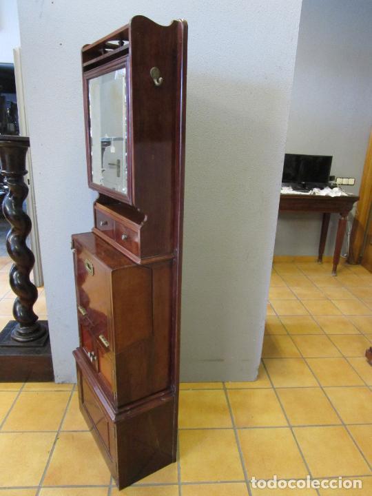Antigüedades: Antiguo Mueble de Barco - Compañía Trasatlántica Vapores Correos, Barcelona - Madera Caoba - S. XIX - Foto 41 - 207929101