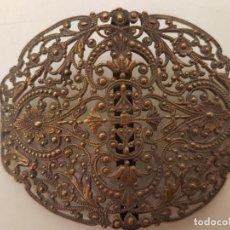 Antigüedades: HEBILLA DE BRONCE, AÑOS 20, FILIGRANA, (7X5). Lote 207930922