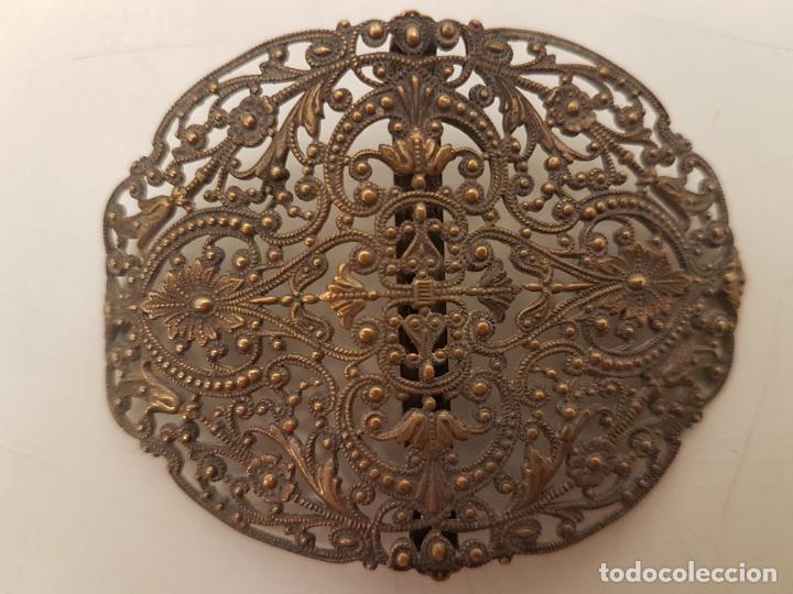 Antigüedades: HEBILLA DE BRONCE, AÑOS 20, FILIGRANA, (7X5) - Foto 4 - 207930922