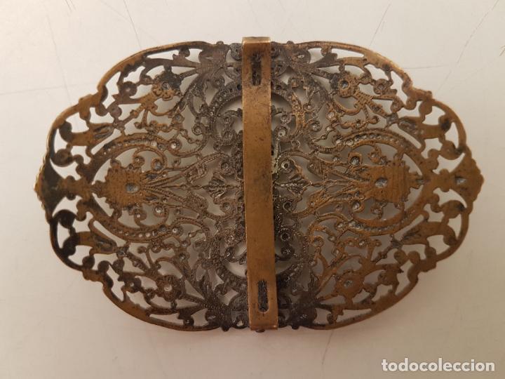Antigüedades: HEBILLA DE BRONCE, AÑOS 20, FILIGRANA, (7X5) - Foto 5 - 207930922