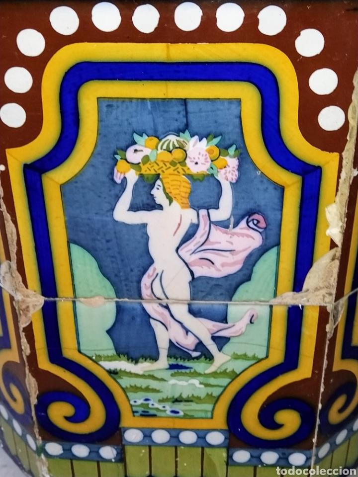 Antigüedades: Magníficos maceteros de azulejos modernistas. Final siglo XIX. - Foto 5 - 207986240
