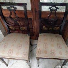 Antigüedades: MAGNIFICA PAREJA DE SILLAS. LOS CERTALES.. Lote 207989777