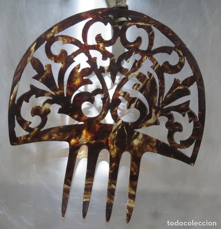 ANTIGUA PEINETA SIMIL CAREY (Antigüedades - Moda - Peinetas Antiguas)