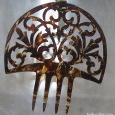 Antigüedades: ANTIGUA PEINETA SIMIL CAREY. Lote 207997672