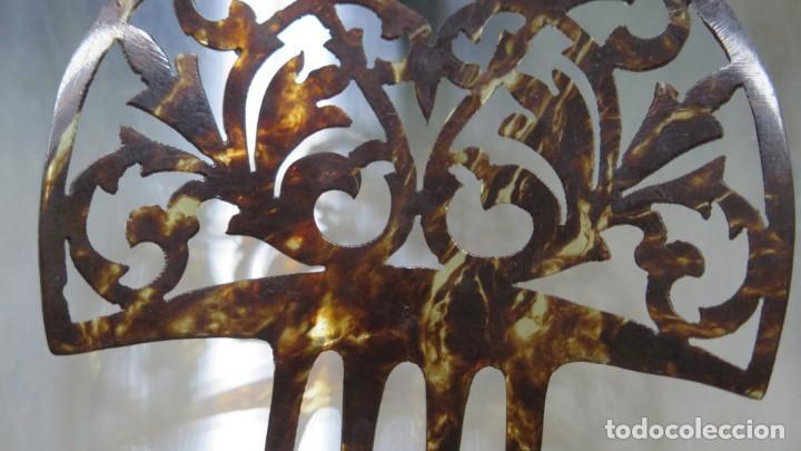 Antigüedades: ANTIGUA PEINETA SIMIL CAREY - Foto 2 - 207997672