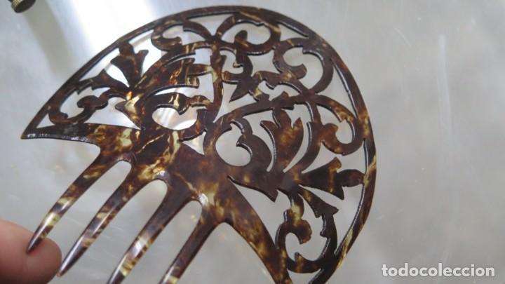 Antigüedades: ANTIGUA PEINETA SIMIL CAREY - Foto 3 - 207997672