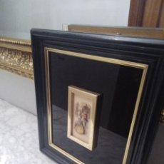 Antigüedades: CUADRO LACADO NEGRO. Lote 208018971