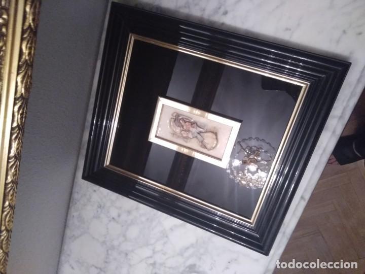 Antigüedades: Cuadro lacado negro - Foto 2 - 208018971