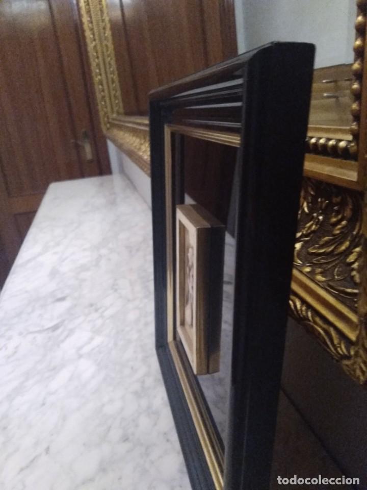 Antigüedades: Cuadro lacado negro - Foto 4 - 208018971