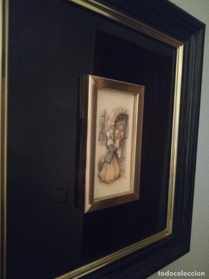 Antigüedades: Cuadro lacado negro - Foto 8 - 208018971