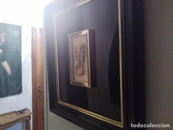 Antigüedades: Cuadro lacado negro - Foto 9 - 208018971