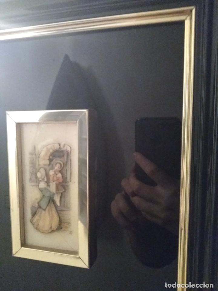 Antigüedades: Cuadro lacado negro - Foto 10 - 208018971