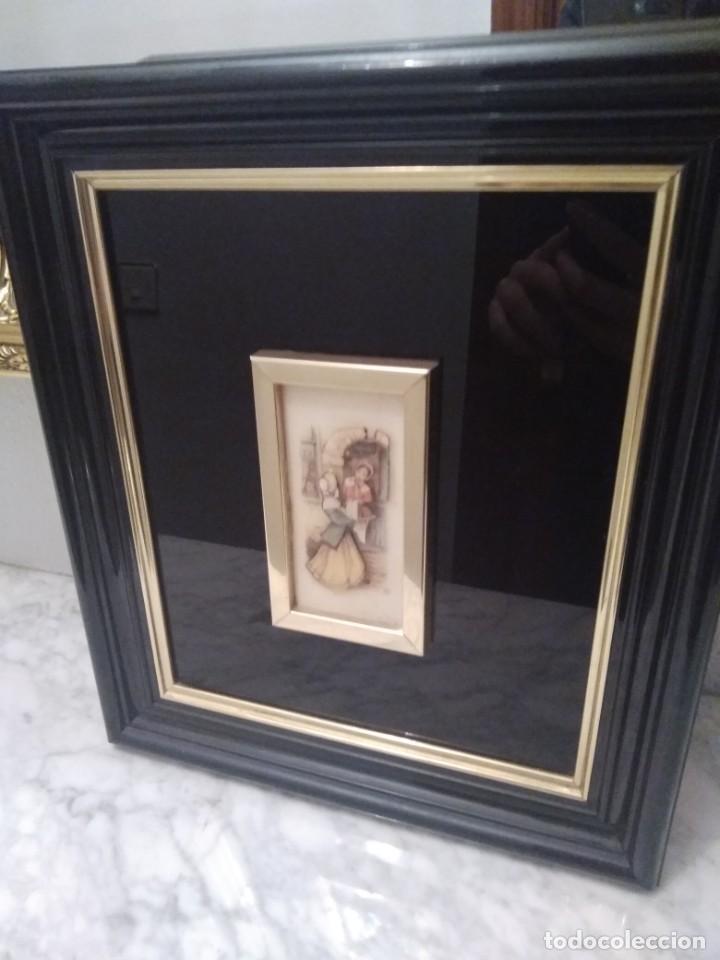 Antigüedades: Cuadro lacado negro - Foto 11 - 208018971