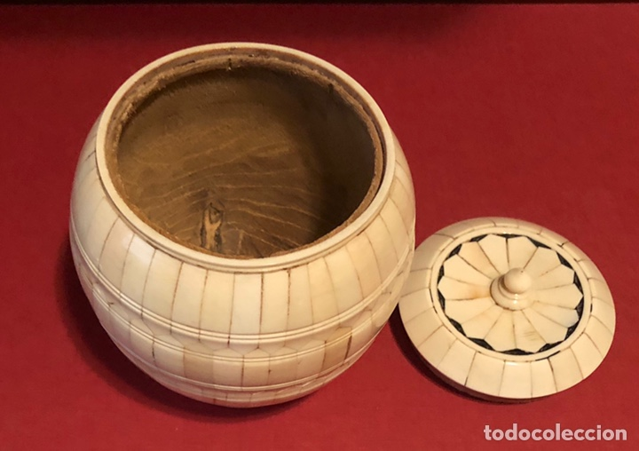 Antigüedades: Precioso joyero-caja, en hueso o marfil - Foto 3 - 208036201
