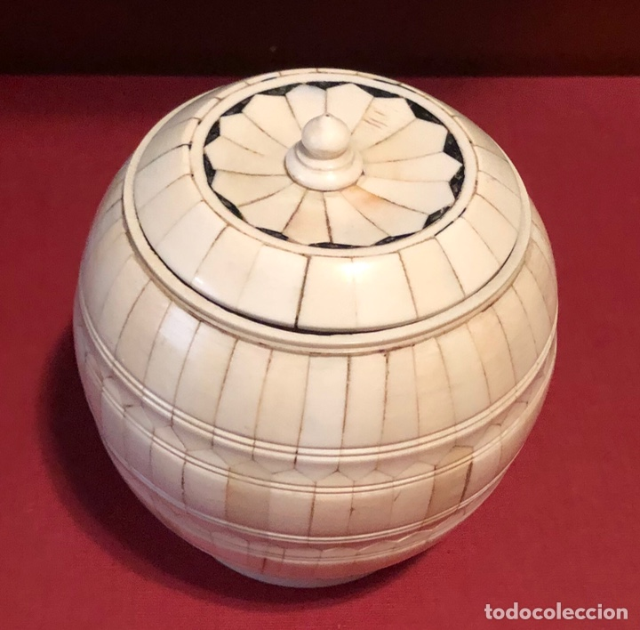 PRECIOSO JOYERO-CAJA, EN HUESO O MARFIL (Antigüedades - Hogar y Decoración - Cajas Antiguas)
