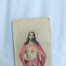 Antigüedades: CORAZÓN DE JESÚS. ESTAMPITA (10X6). Lote 208037390