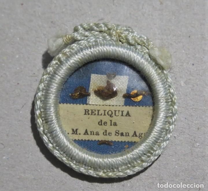 RELICARIO DE LA V. M. ANA DE SAN AGUSTIN. CARMELITA. RELIQUIA PRIMER GRADO (Antigüedades - Religiosas - Relicarios y Custodias)