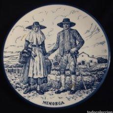Antigüedades: PLATO CERAMICA DE LA ISLA DE MENORCA, ISLAS BALEARES. Lote 208070578
